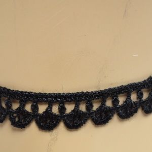 Lace Black Choker with Chain Closure necklace